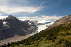 萨斯喀彻温省冰川 免版税库存照片