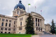 萨斯喀彻温省立法大厦在雷日纳 免版税库存图片