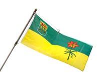 萨斯喀彻温省,加拿大省旗子  免版税库存照片