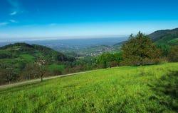 从萨斯巴瓦尔登的看法在莱茵河valley_Baden Wuerttemberg 库存照片