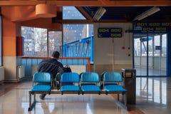 萨格勒布公交车站 免版税图库摄影