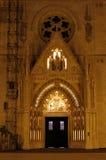 萨格勒布大教堂的入口门户 库存照片