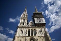 萨格勒布大教堂 免版税库存照片