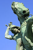 萨格勒布,克罗地亚:杀害龙,雕塑的圣乔治在萨格勒布 库存照片