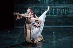 萨格勒布,克罗地亚- 2月15 2018年 罗密欧和朱丽叶芭蕾 免版税库存图片