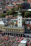 萨格勒布,圣玛丽教会 库存图片