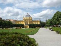 萨格勒布, Tomislav City Park国王 免版税库存图片
