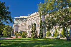 萨格勒布建筑学和自然城市 免版税图库摄影