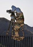萨沃卡镜子剪影 免版税库存照片
