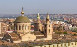 萨瓦格萨,西班牙都市风景  免版税库存照片