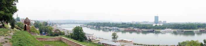 萨瓦河看法  免版税库存照片