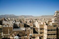 萨纳查看也门 库存图片