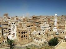 萨纳老市, Yemenia 免版税库存图片