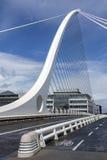 萨缪尔・贝克特桥梁-都伯林-爱尔兰 库存图片