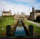 萨罗普郡联合运河在威尔士 免版税库存图片