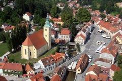 萨莫博尔-城市在克罗地亚 免版税库存图片