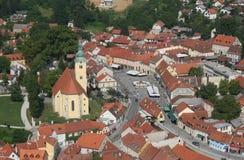 萨莫博尔-城市在克罗地亚 库存照片