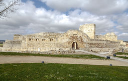 萨莫拉城堡,一个城市在西西班牙 免版税图库摄影