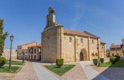 萨莫拉大教堂正方形的圣伊西多里教会  免版税库存照片