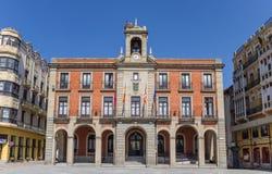萨莫拉的广场市长的城镇厅 免版税库存图片