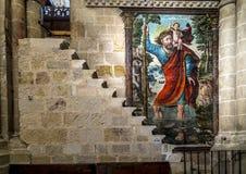 萨莫拉,内部大教堂 免版税库存图片