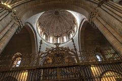 萨莫拉,内部大教堂 库存照片