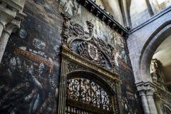 萨莫拉,内部大教堂 库存图片
