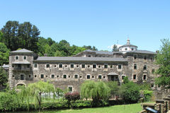 萨莫斯岛修道院 库存照片