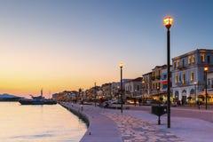 萨莫斯岛海岛在希腊 免版税库存图片