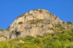 萨莫斯岛海岛山  库存照片