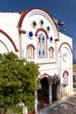 萨莫斯岛的教会 库存照片