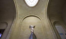 萨莫色雷斯岛,天窗,巴黎,法国胜利  免版税图库摄影
