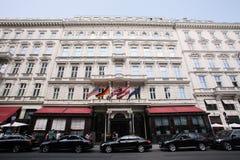 萨赫酒店在维也纳 免版税库存照片
