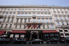 萨赫酒店在维也纳 库存图片