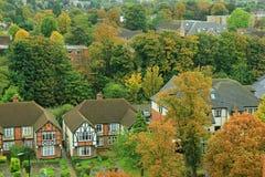 萨顿小镇在萨里,英国 库存照片
