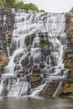 落下的伊萨卡岛Falls 库存照片