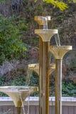 落下的喷泉在盐湖城公园 库存图片