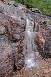 落下的瀑布在阿科底亚国家公园,缅因 库存照片