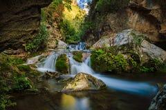 落下d'Akchour, Rif山,摩洛哥 库存照片