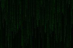 落从上面的浅绿色的数字式文本字词背景矩阵 库存图片