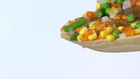 落入碗用红萝卜,玉米超级慢动作的绿豆 股票录像