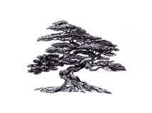 落叶盆景 自然形式,东部奥秘 免版税图库摄影