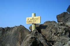 落后到Mt. St. Helens,华盛顿州 免版税图库摄影