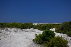 落后的海滩 图库摄影