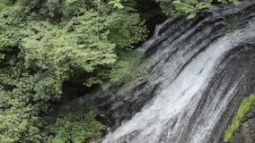 落在岩石大量的瀑布 影视素材