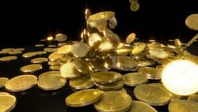 落在慢动作的硬币 向量例证