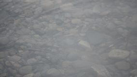 落在镇静河水的雨珠浮出水面晚夏 股票录像