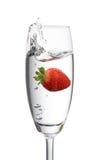 落地窗草莓 免版税图库摄影