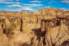 落寞沙漠峡谷 免版税库存照片