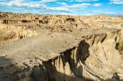 落寞沙漠视图 免版税库存照片
